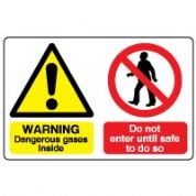 Multiple safety sign - Dangerous Gases 004